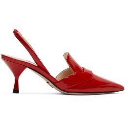 Red DOrsay Slingback Heels