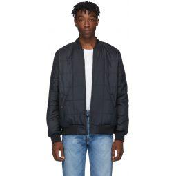 Reversible Black Sherpa Bomber Jacket