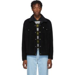 Black Sherpa Type 3 Trucker Jacket