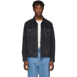 Black Vintage Trucker Jacket