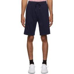 Navy Interlock Track Shorts