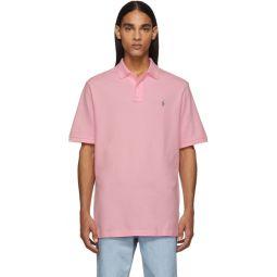 Pink Mesh Iconic Polo