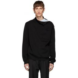 SSENSE Exclusive Black Knit Rollneck Sweater