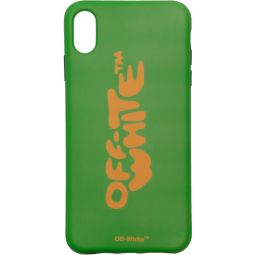 Green Bubble Font iPhone XS Max Case