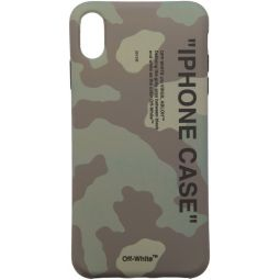 Green Camo Quote iPhone XS Max Case