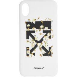 White Cotton Arrows iPhone XS Max Case