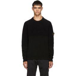 Black Half Rib Knit Sweater