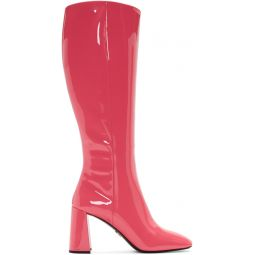 Pink Patent Boots