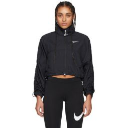 Black Ripstop Cropped Jacket