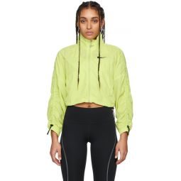 Yellow Ripstop Cropped Jacket
