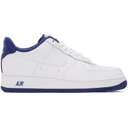 White & Blue Air Force 1 07 Sneakers