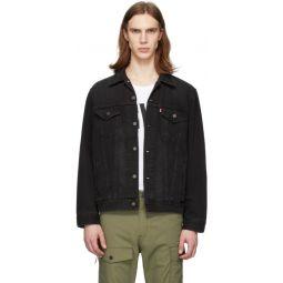 Black Denim Vintage Fit Trucker Jacket