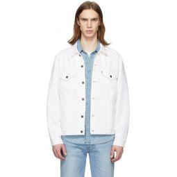 White Denim Vintage Fit Trucker Jacket
