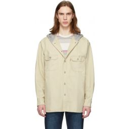 Beige Hooded Jackson Overshirt Jacket