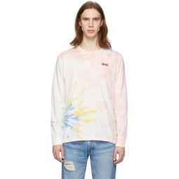 Multicolor Tie-Dye Two Horse Long Sleeve T-Shirt