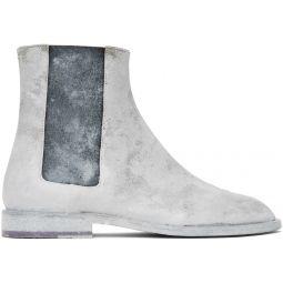 White Advocate Tabi Boots