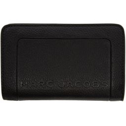 Black The Textured Box Compact Wallet