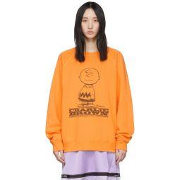 Orange Peanuts Edition Charlie Brown Sweatshirt