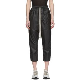 Black Cropped Astaire Trousers