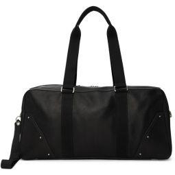 Black Leather Gym Bag