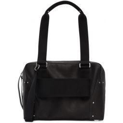 Black Leather Trolley Bag