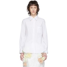White Exaggerated Back Pleat Shirt