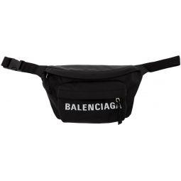 Black Logo Sport Belt Bag