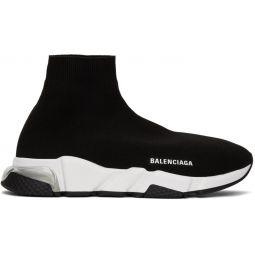 Black & Transparent Rubber Speed Sneakers