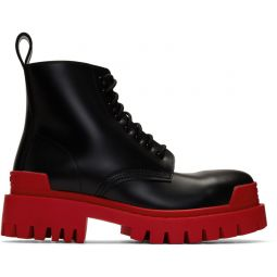 Black & Red Strike Boots