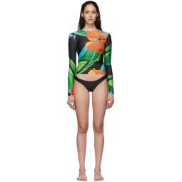SSENSE Exclusive Black Surf Long Sleeve Bikini Set