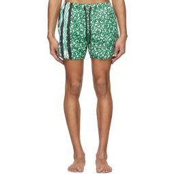 Green Artist Dots Swim Shorts