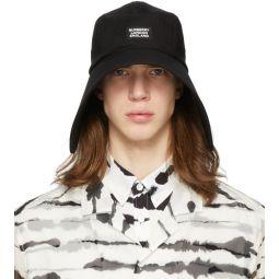 Black Cotton Bonnet Hat