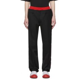 Black Wide Tailored Trousers