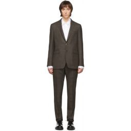 SSENSE Exclusive Brown Wool Check Suit
