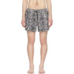 Black & White Greenford Swim Shorts