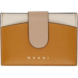 Orange & Beige Law Card Holder
