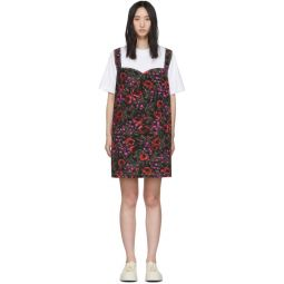 White & Multicolor Amarcord T-Shirt Dress