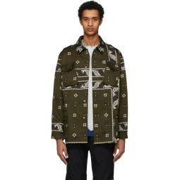 Green Bandana Print Jacket