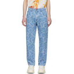 Blue Water Effect Jeans