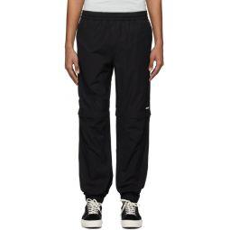 Black Zip Off Lounge Pants