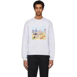 Grey Cartoon Print Sweatshirt