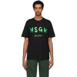 Black Paint Brushed Logo T-Shirt