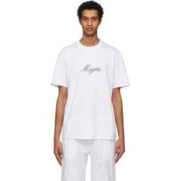 White Italic Logo T-Shirt