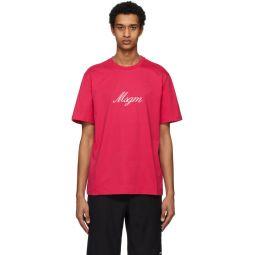 Pink Italic Logo T-Shirt