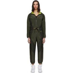 Khaki Flight Suit Jumpsuit