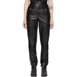 Black Leather Xenia Pants