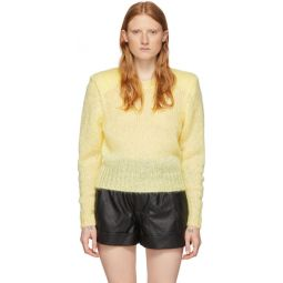 Yellow Mohair Idona Crewneck Sweater