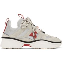 Off-White & Red Kindsay Sneakers