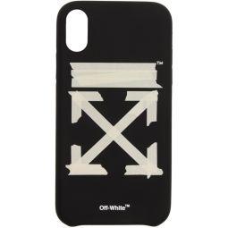 Black & Beige Tape Arrows iPhone XR Case