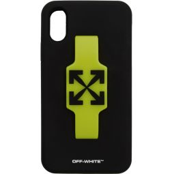 Black Arrows Finger Grip iPhone XR Case